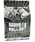 Wake The Hell Up Ground Coffee, Ultra Caffeinated Medium-Dark Roast, 12 Ounce, Reclosable Bag