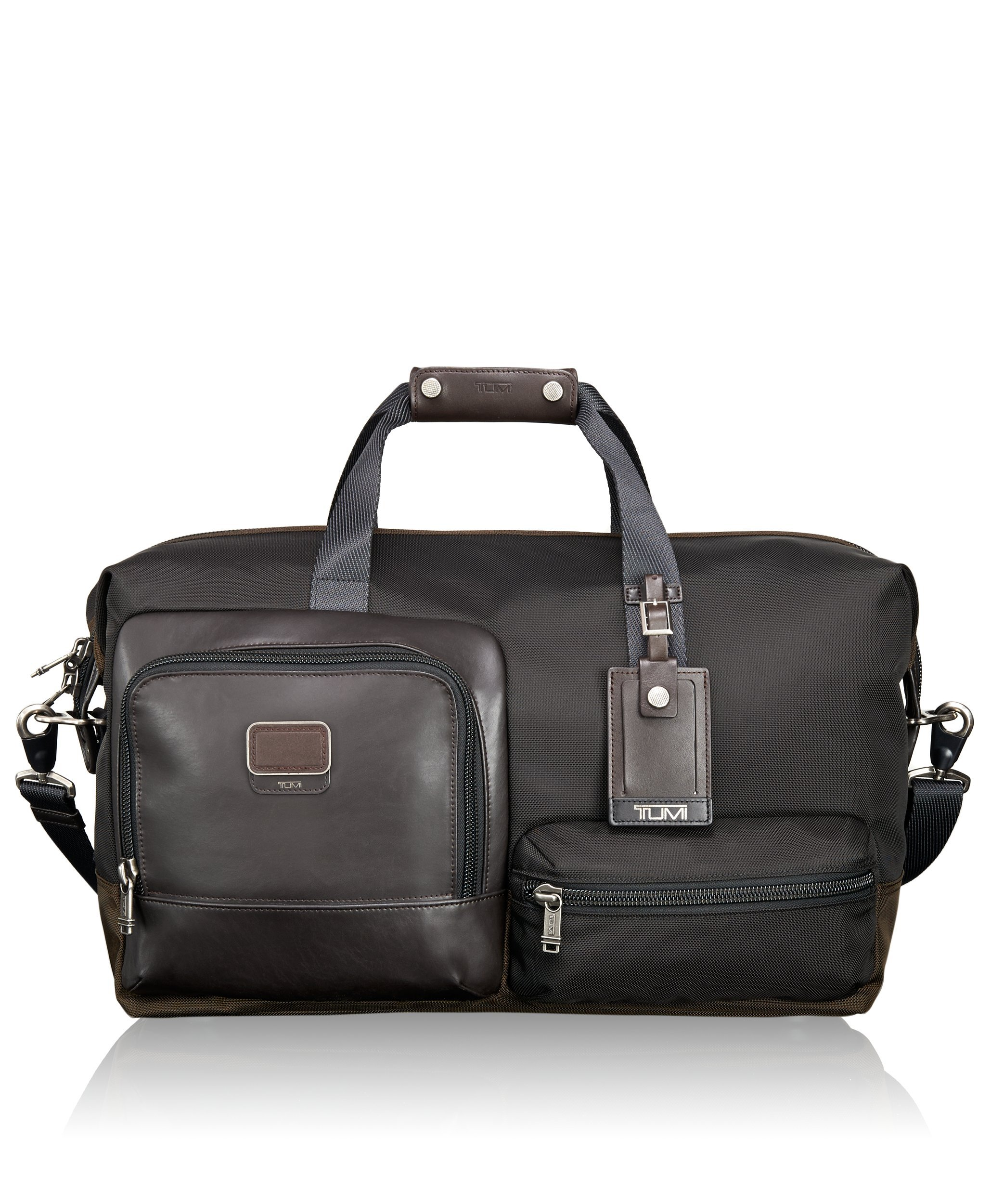 Tumi Alpha Bravo Grissom Travel Satchel, Hickory, One Size by Tumi