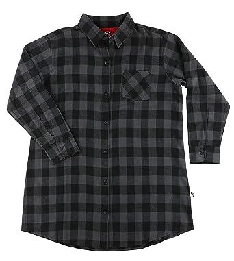 a4ae19f057 Lazy One Womens Grey Plaid Flannel Nightshirt Adult  Amazon.co.uk ...