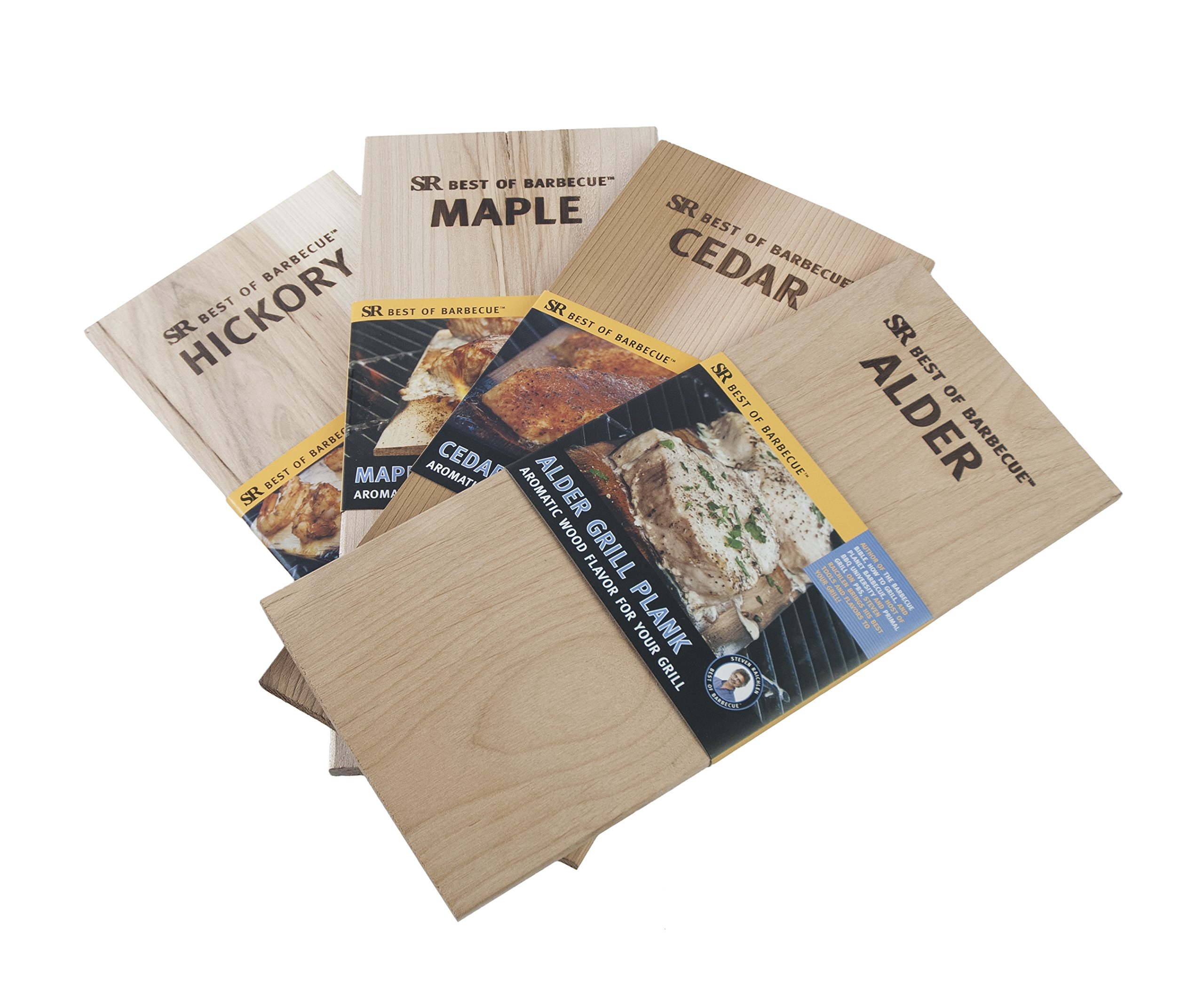 Steven Raichlen Best of Barbecue SR8701 Wood Grilling Planks, Set of 4 by Steven Raichlen Best of Barbecue