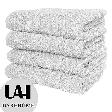 Set de 4toallas de baño de algodón egipcio puro,