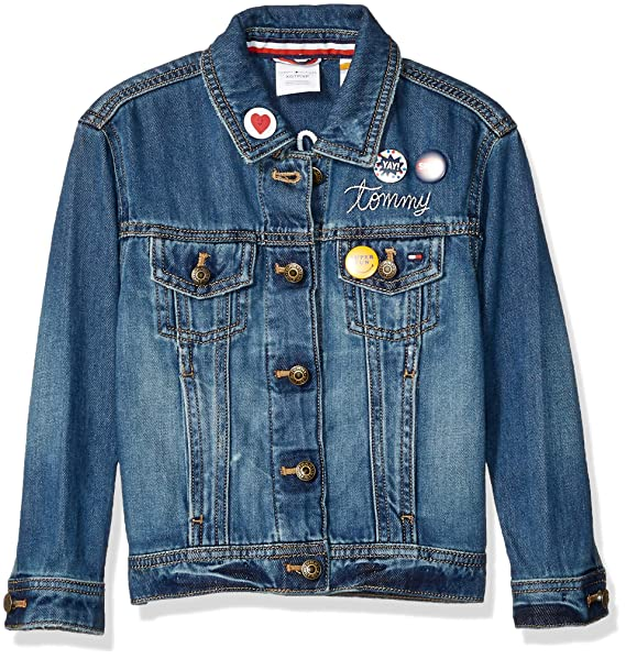 0ce3670f5 Tommy Hilfiger Girls Adaptive Jean Jacket with Magnetic Buttons ...