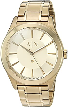 Armani Exchange Mens AX2327 Gold Watch