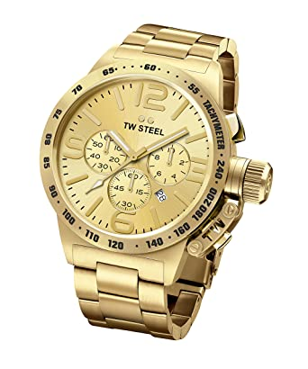TW STEEL CB104 Mens 50mm Full Plating Yellow Gold&Gold Dial Watch