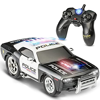 Prextex RC Police Car Remote Control Police Car RC Toys Radio Control  Police Car Great Toys for Boys Rc Car with Lights and Siren for 5 Year Old  Boys