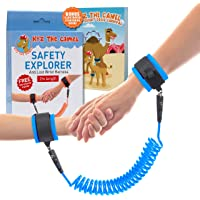 Kid Leash - Child Anti Lost Wrist Harness - with Double Velcro Wrist Band - No Cut Harness for Maximum Security - Comfy Wrist Straps Rotate 360 - Keep Child Nearby - 2m Length