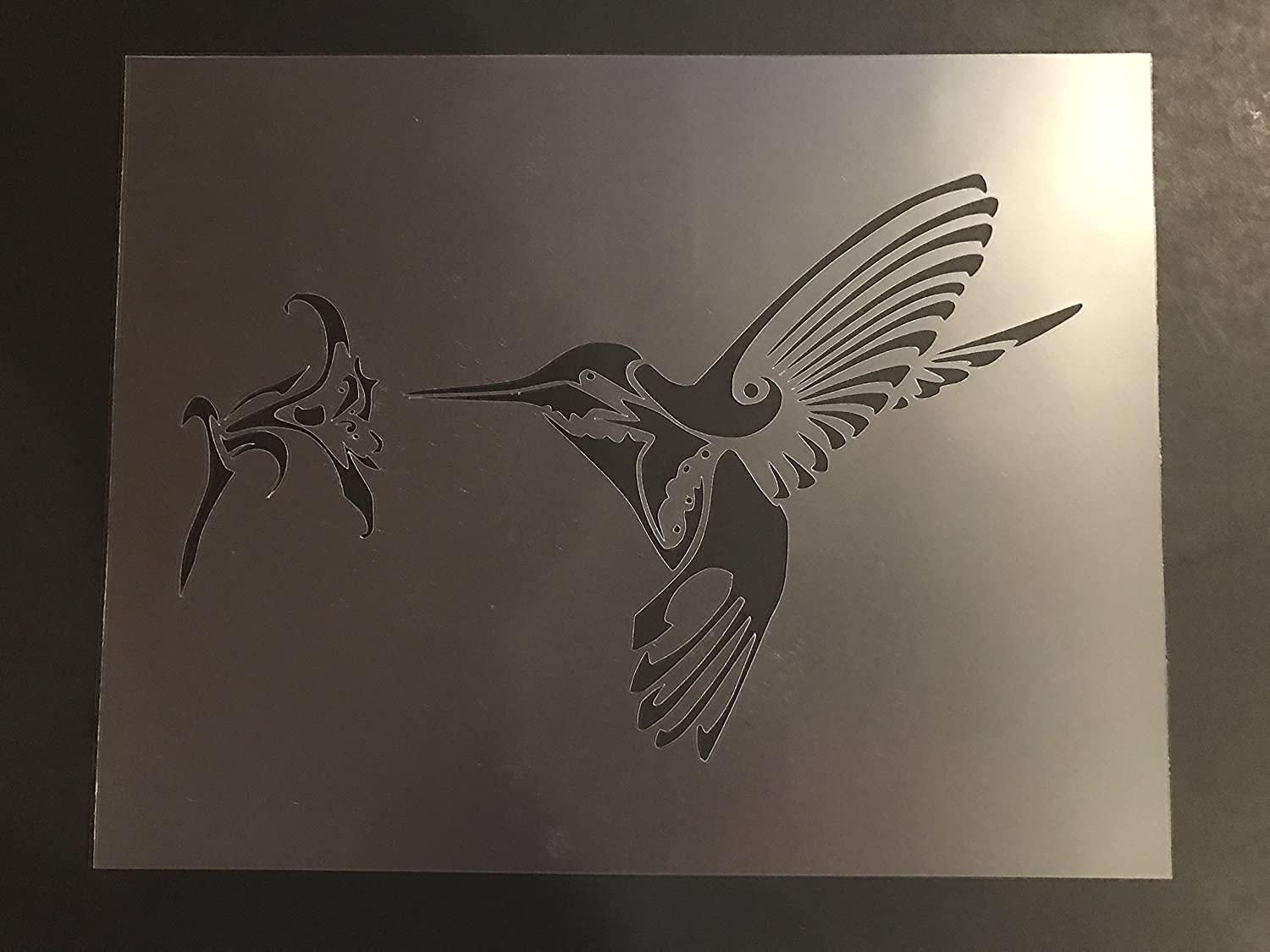 Humming Bird Stencil #1 Reusable 10 mil Thick 7in x 9in sheet