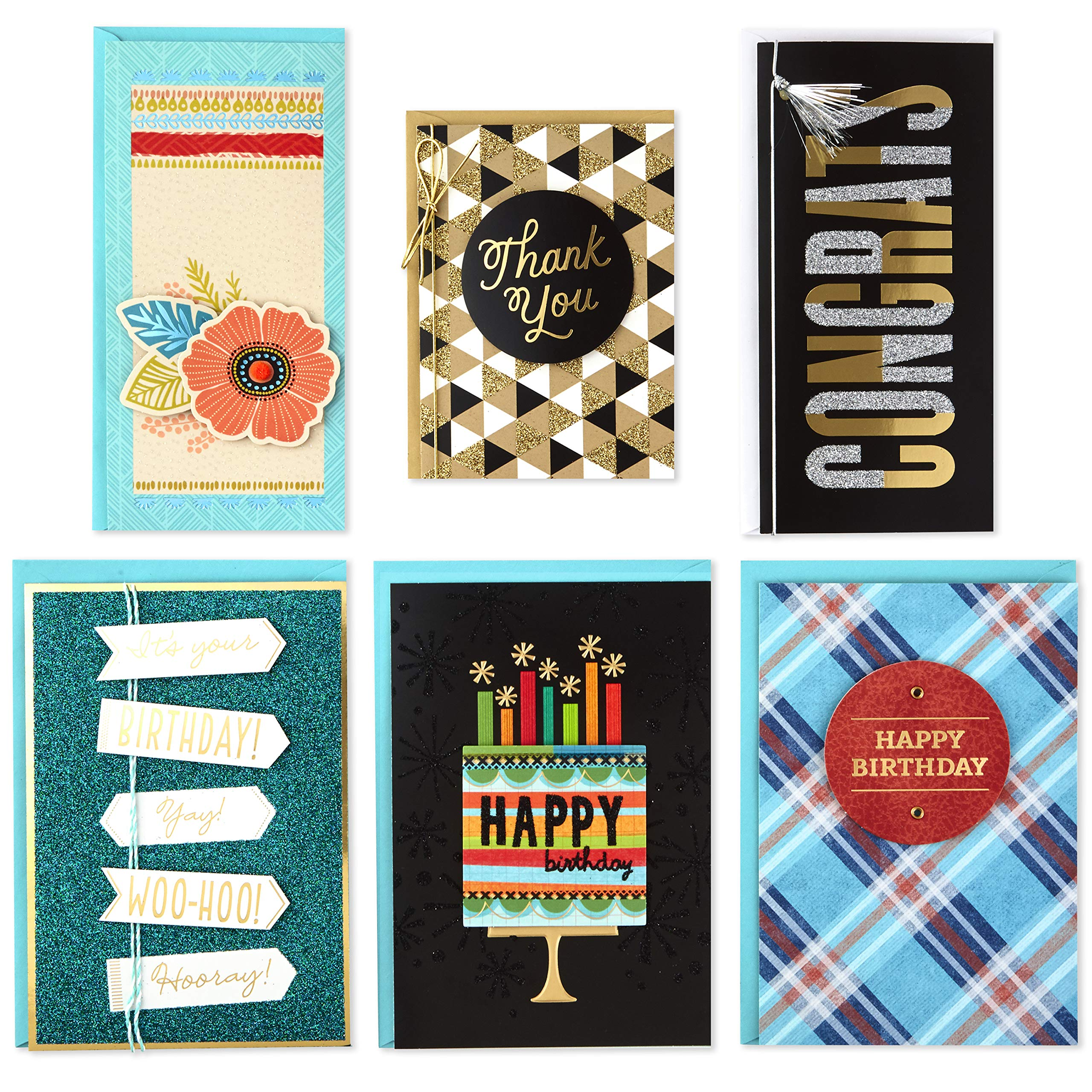 Hallmark Handmade All Occasion Boxed Greeting Card Assortment, Modern Floral (Pack of 24)-Birthday Cards, Baby Shower Cards, Wedding Cards, Sympathy Cards, Thinking of You Cards, Thank You Cards by Hallmark (Image #4)