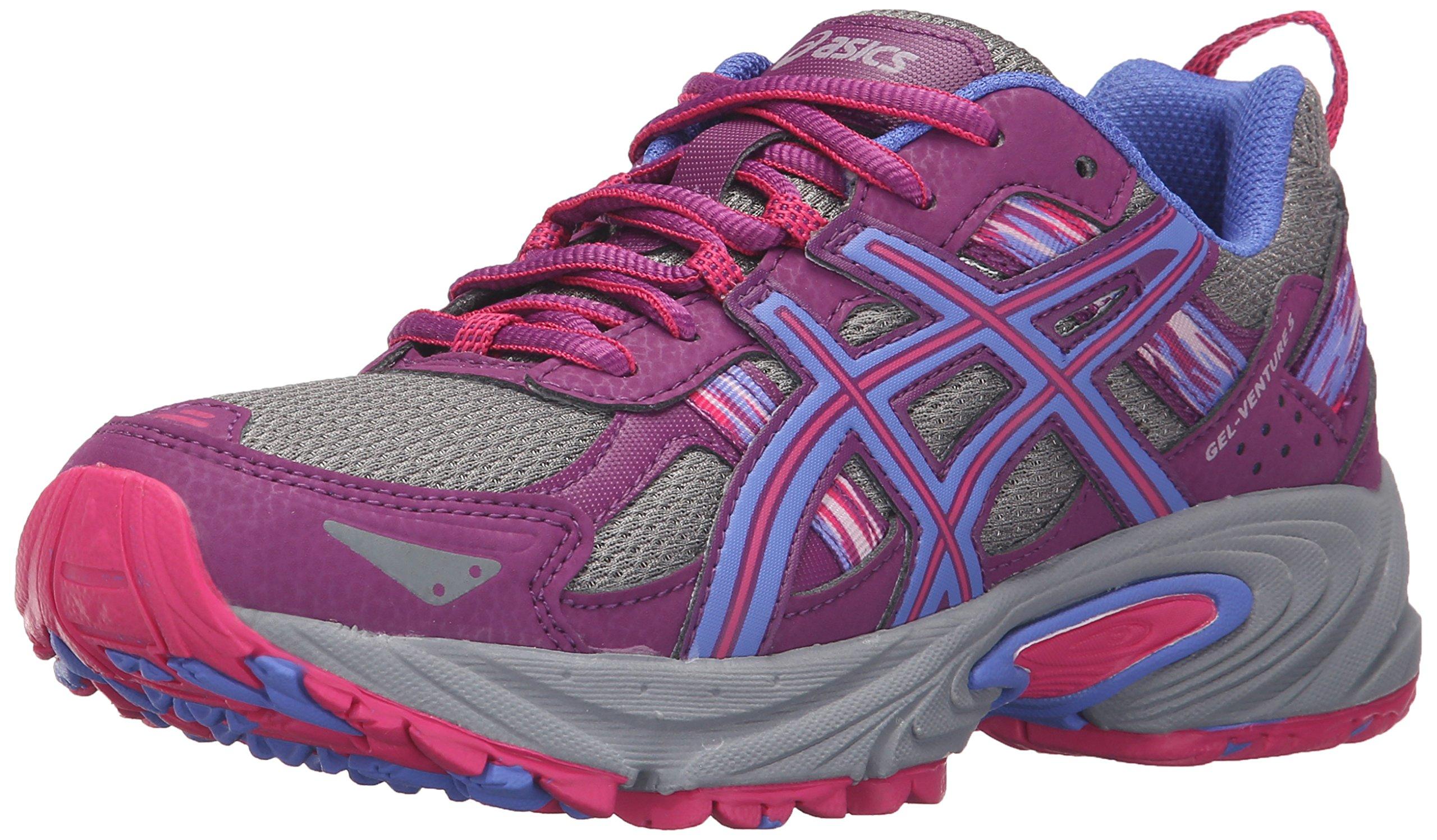 ASICS Women's Gel-Venture 5 Trail Runner, Phlox/Sport Pink/Aluminum, 8 M US