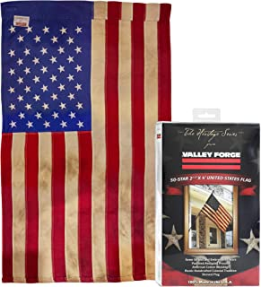 product image for Valley Forge, American Flag, Poly Cotton, 2.5' x 4', 100% Made in USA, Heritage Series, Antiqued Colonial 50-Star US American Flag