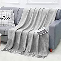 Deals on WGCC Knit Throw Blanket for Couch, 50×60-inch