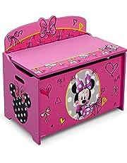 Disney Delta Children Deluxe Toy Box Minnie Mouse, Pink