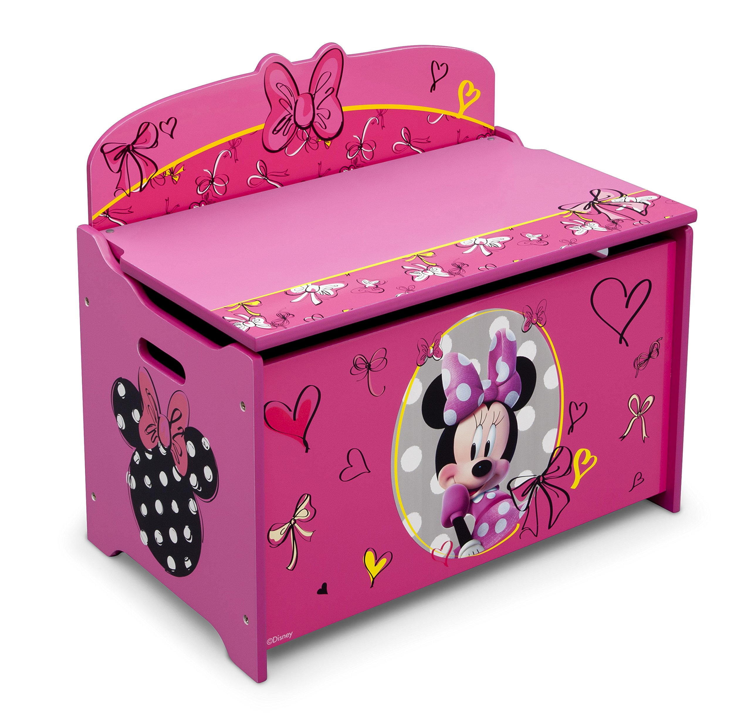 Delta Children Deluxe Toy Box, Disney Minnie Mouse by Delta Children