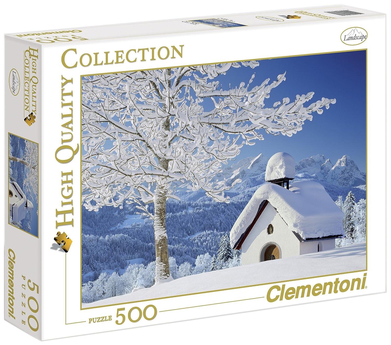 Clementoni 30365.6 - Puzzle 500 teilig Weiß Alpen