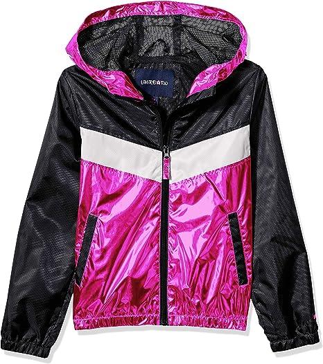 Arctic Quest Girls Colorblock Windbreaker Jacket with Jersey Lining /& Hood