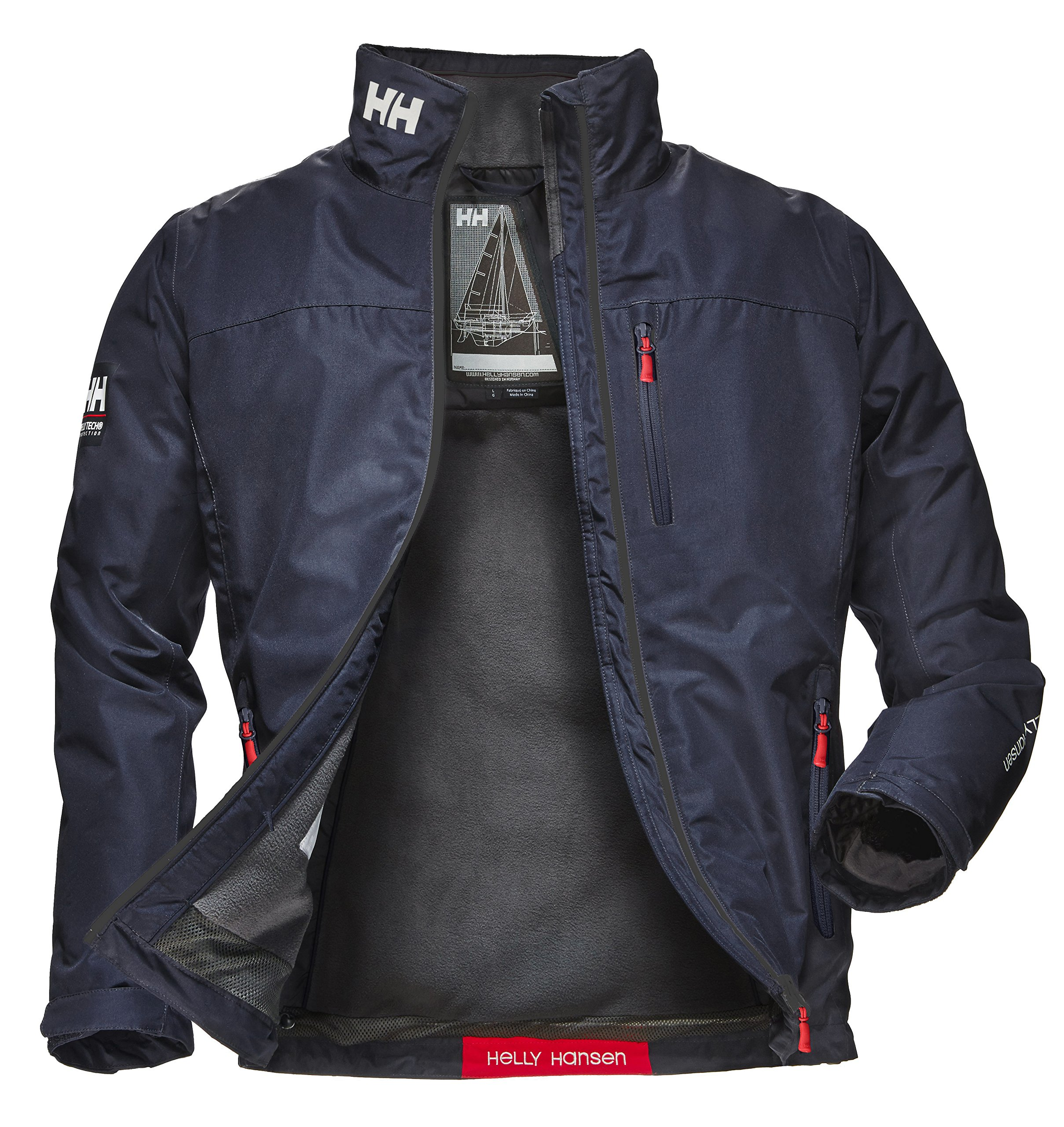 Helly Hansen Crew Midlayer Chaqueta Impermeable para Hombre, Color Azul (Azul Navy), Talla L