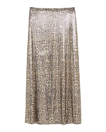 ff85e22eb Zara Women Snakeskin Print Sequin Skirt 2488/109 Black at Amazon ...
