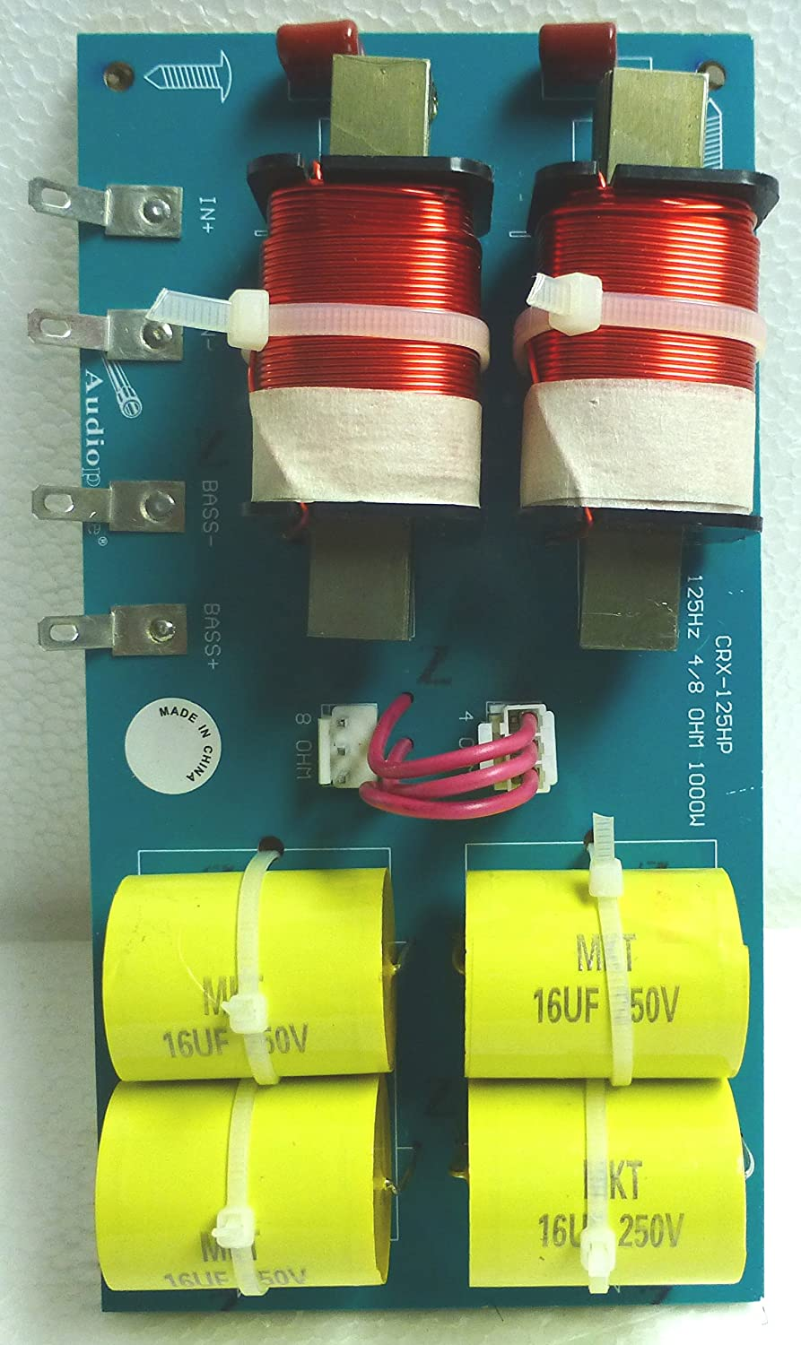 Single Passive Low Pass Crossover 1000 Watts 4 8 Ohm Subwoofer Wiring 125hz Home Audio Theater