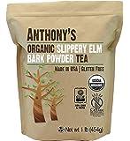 Organic Slippery Elm Bark Powder (1lb) by Anthony's, Gluten Free, (16oz)