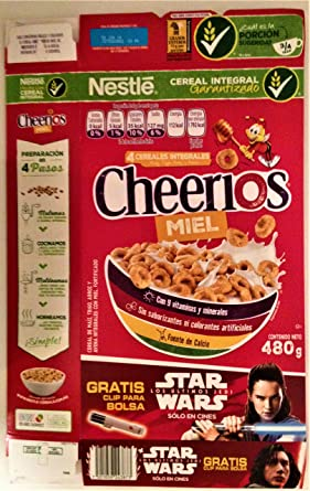 Star Wars: The Last Jedi Mexico Exclusive Nestle Miel Cheerios 480g Box EMPTY