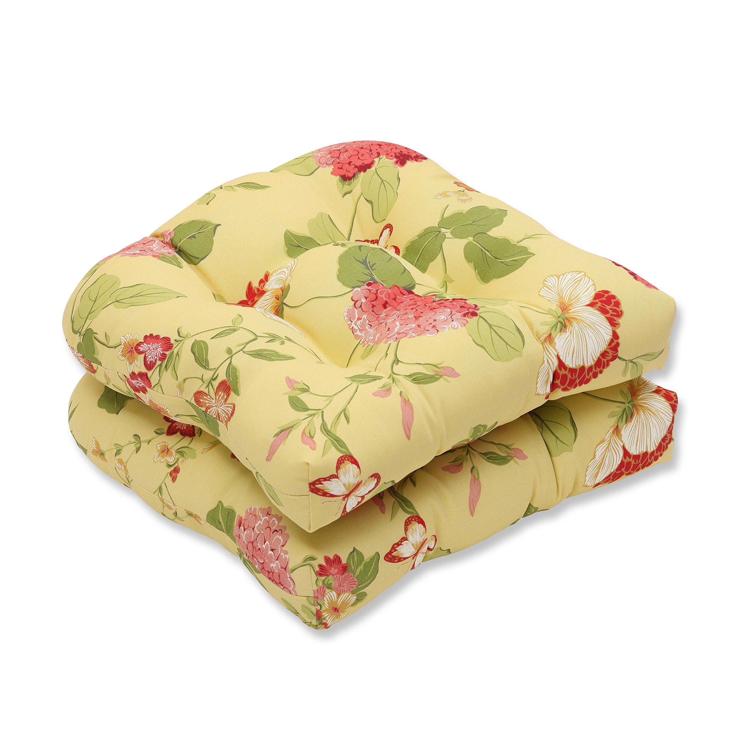 Pillow Perfect Outdoor/Indoor Risa Lemonade Wicker