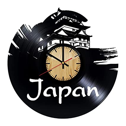 Amazon com: ForLovedGifts Japan Main Hall Design Vinyl Wall Clock