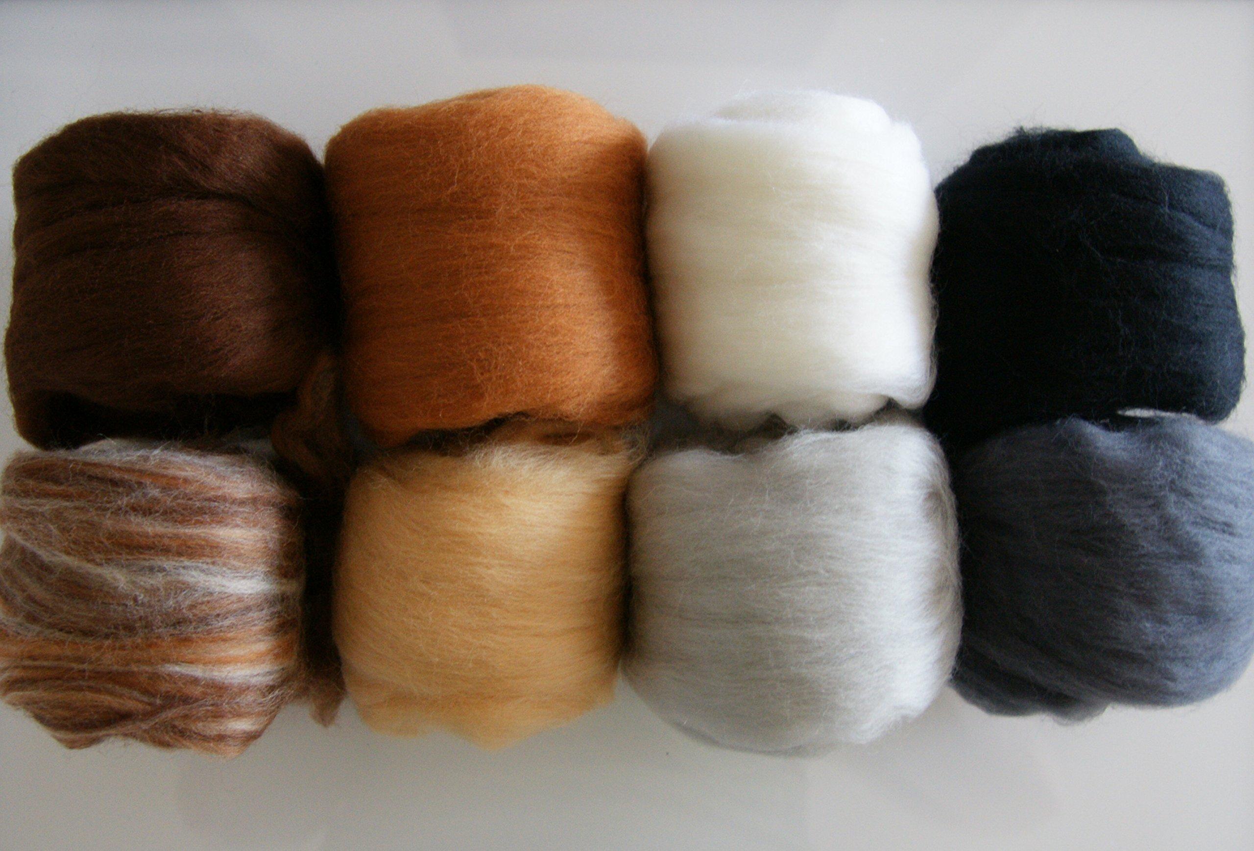 Extra Fine Merino Roving 4 Oz 8 Colors Critter Pack for Felting