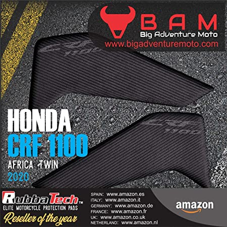 RubbaTech H.O.N.D.A CRF1100L Adventure Sport Protective rubber tank knee pads for Africa Twin Motorcycle