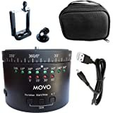 Movo Photo MTP-11 Motorized Panoromic Time Lapse Tripod Head with Variable Speed, Time and Direction with Built-in Rechargeable Battery - For DSLR Cameras, GoPro and Smartphones