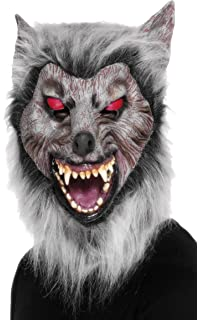 Smiffys Careta de lobo merodeador, Para la cabeza, látex
