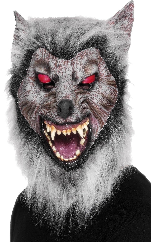 Smiffys Careta de lobo merodeador, Para la cabeza, látex: Amazon.es: Juguetes y juegos