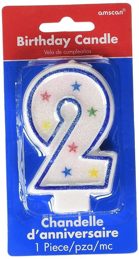 Amazon.com: #2 Flat Molded Candle | Birthday |Anniversary ...