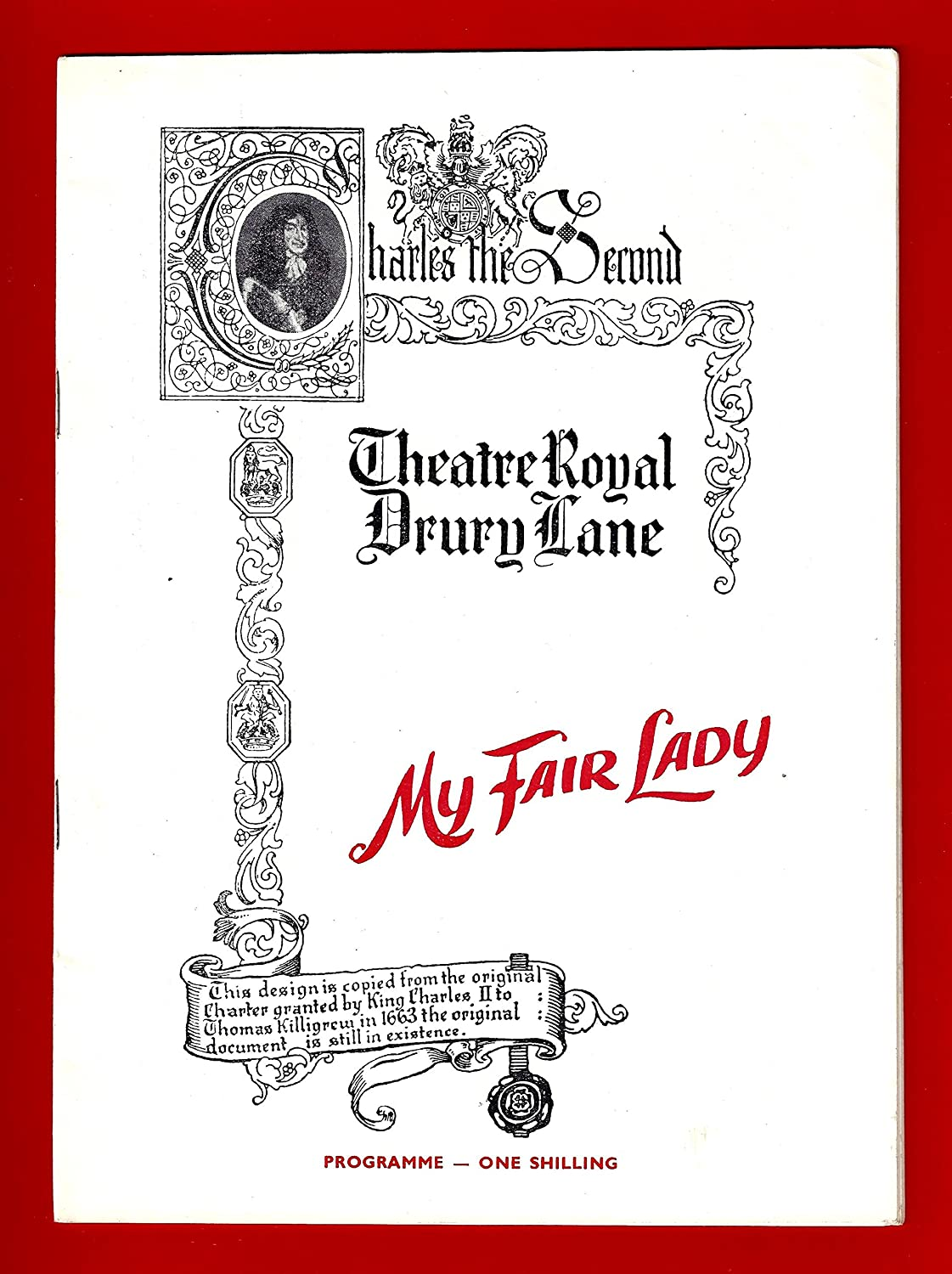 Julie Andrews'MY FAIR LADY' Rex Harrison/Lerner & Loewe 1959 London Playbill