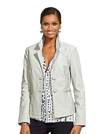 reputable site 198a7 91edc Alba Moda White Women's Jacket: Amazon.co.uk: Clothing