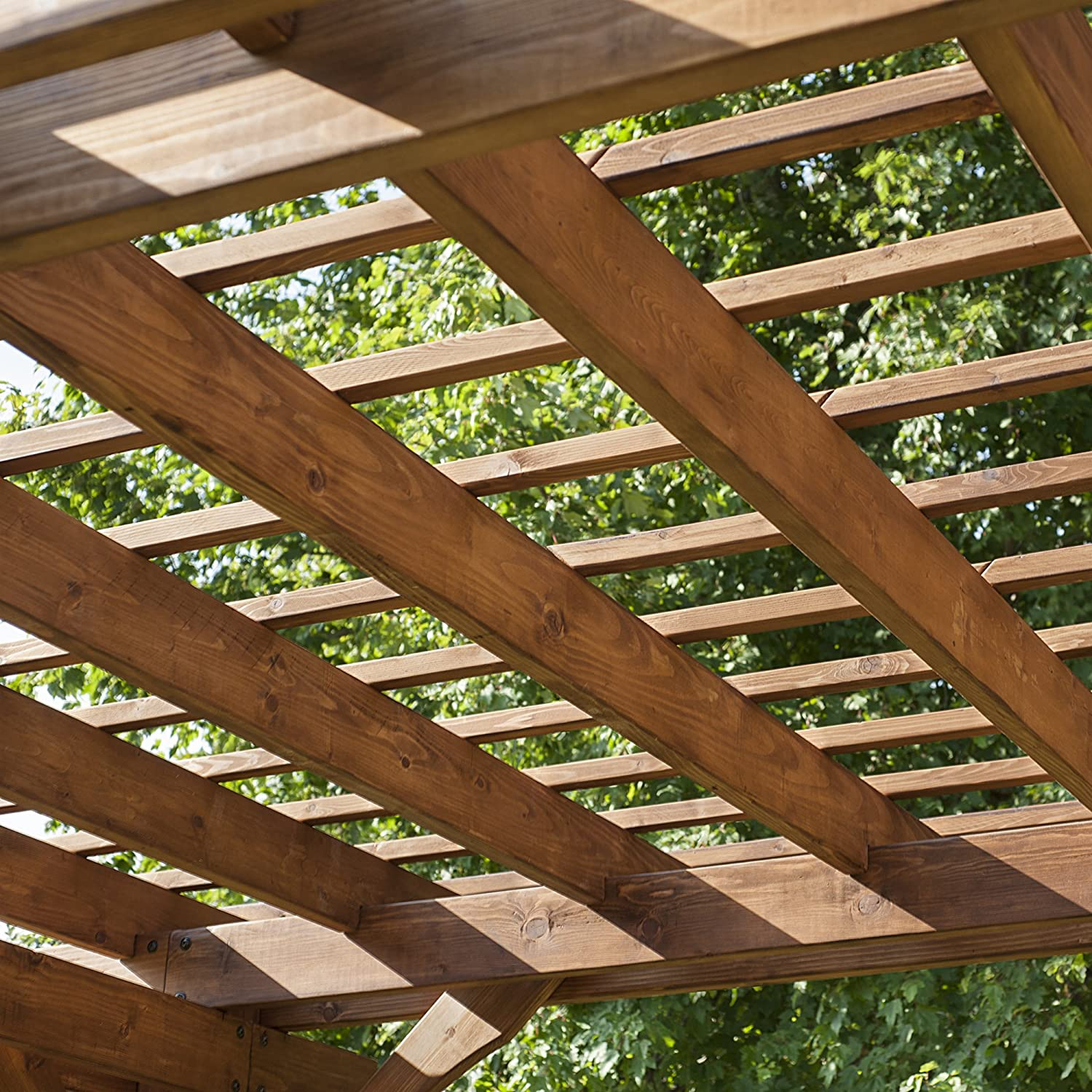 amazon com backyard discovery cedar pergola 12 u0027 by 10 u0027 patio