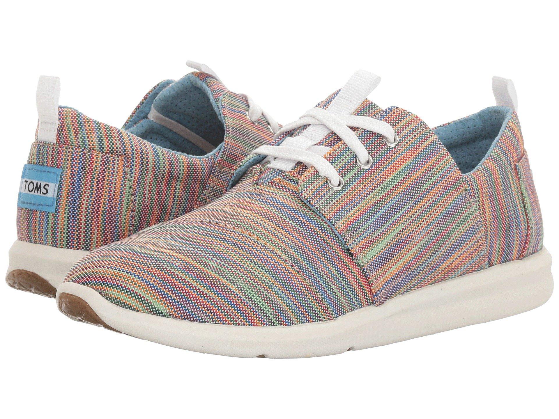 TOMS Women's Del Rey Sneaker Casual Shoe (5 B(M) US, Blue.Aster.Multi.Space.Dye)