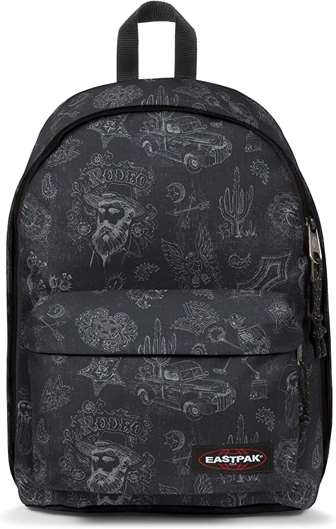 Sac à dos collège Eastpak Out off office neon world Gris