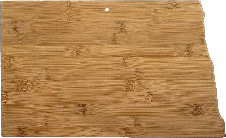 Totally Bamboo North Dakota State Shaped Serving & Cutting Board, Natural Bamboo