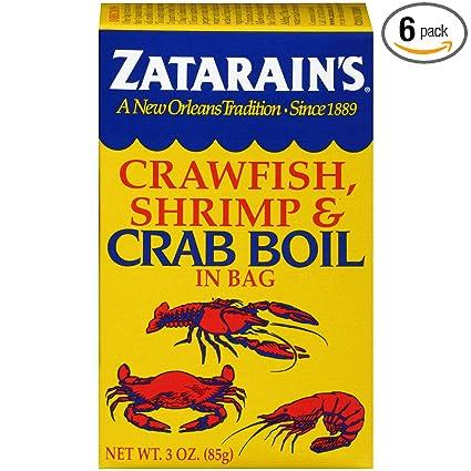 Amazon Com Zatarain S Crawfish Shrimp Crab Boil 3 Oz Mixed