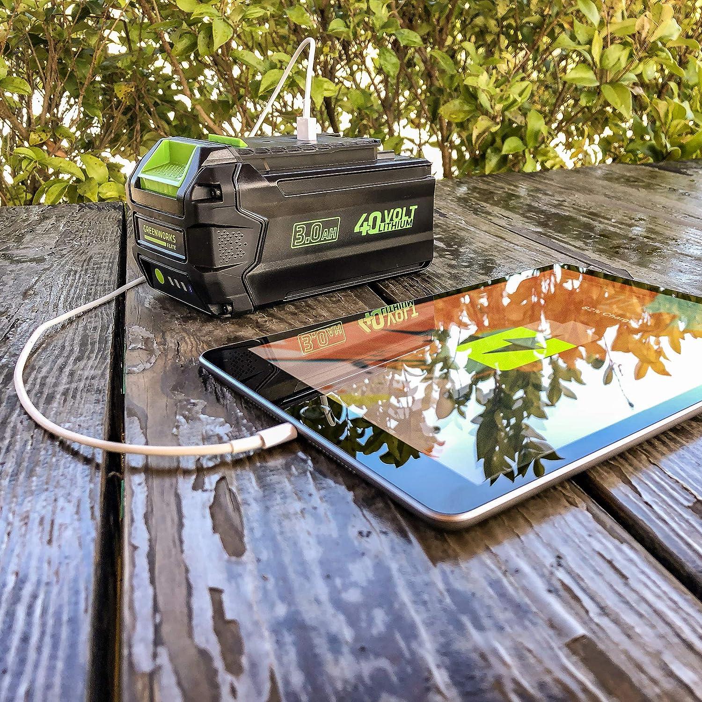 Greenworks 40V 3AH Smart Lithium-Ion USB Battery 3.0 Ah L-300