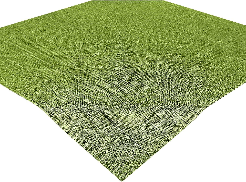 Delindo Lifestyle Mantel mesa SAMBA verde, impermeable, antimanchas, casa y jardin, moderno, cuadrado 85x85 cm