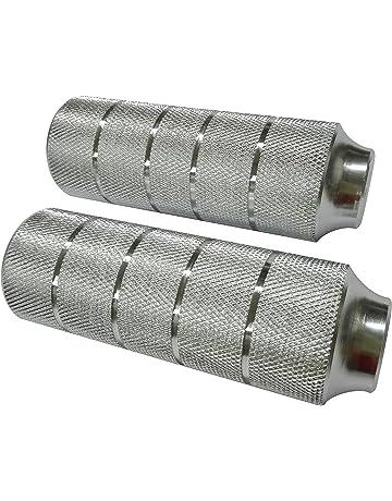 Point 29242000 - Tubos reposapiés para BMX (diámetro 10 mm), Color Plateado