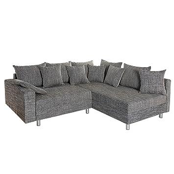 Invicta Interior Design Sofa Loft Strukturstoff Grau Federkern Sofa