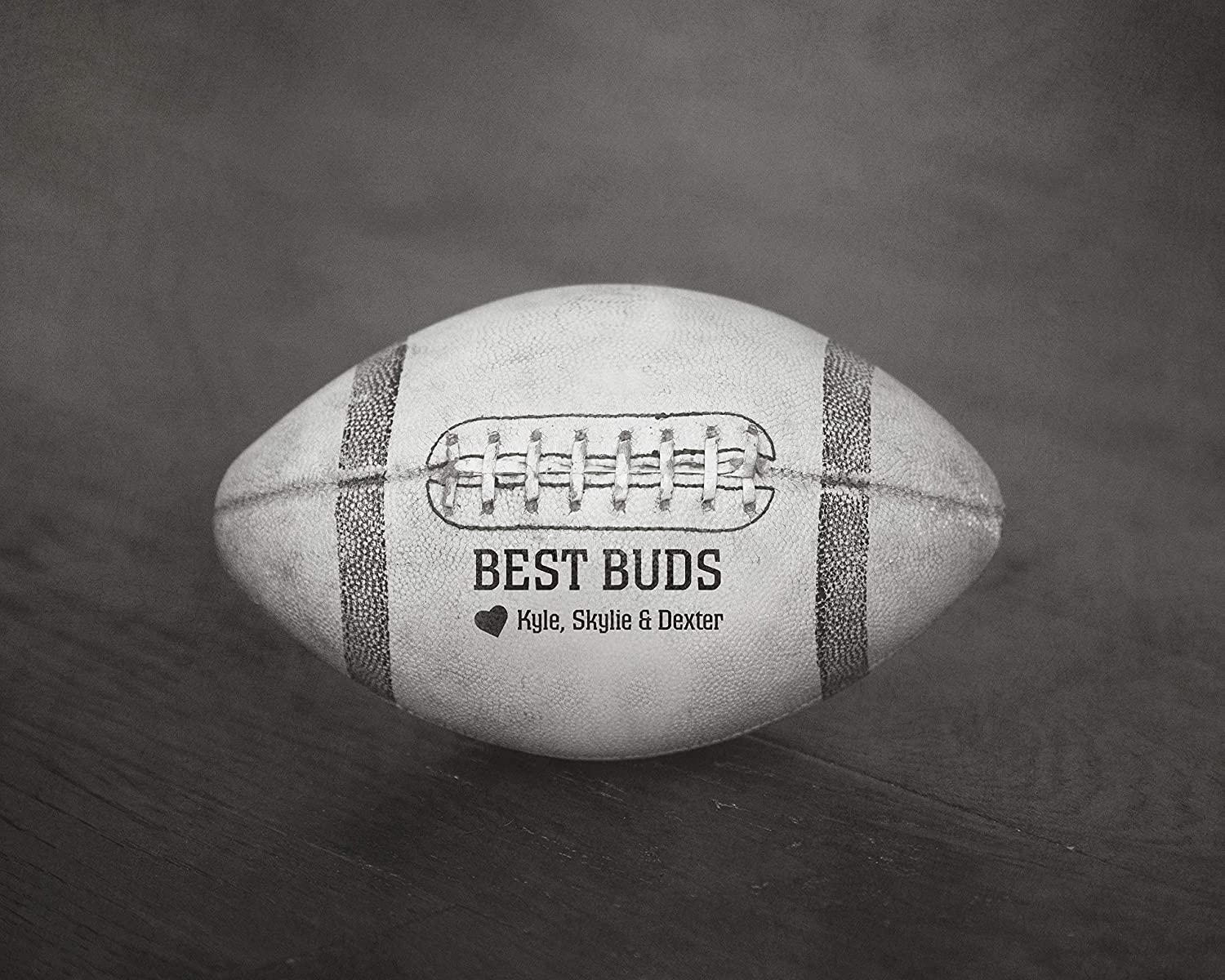 Unique Fathers Day Gift for Him from Kids Personalized Football Sports Home Decor Wall Art Print
