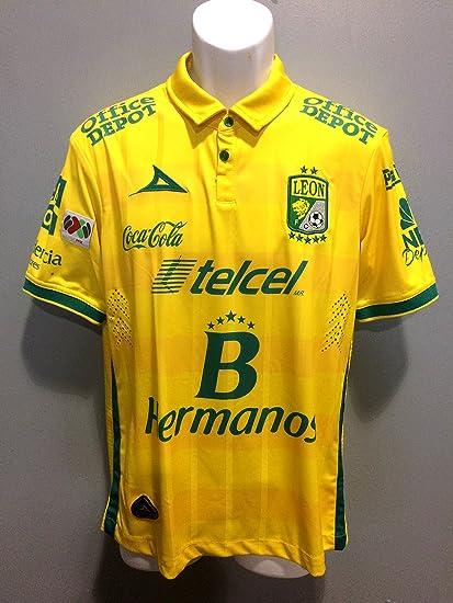5f831abf7d2 Leon FC Playera de Visita Amarilla Pirma 2015 Pumas America Chivas (Small)