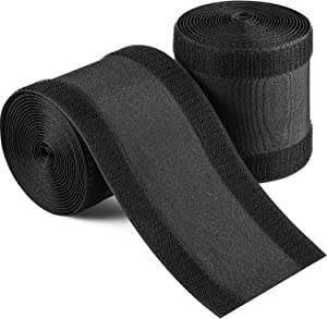 """2 Pack Cable Grip Strip Floor Cable Cover Protect Cords Cable Protector Cable Management 4""""Width x 10'Length - Black Only for Commercial Office Carpet"""