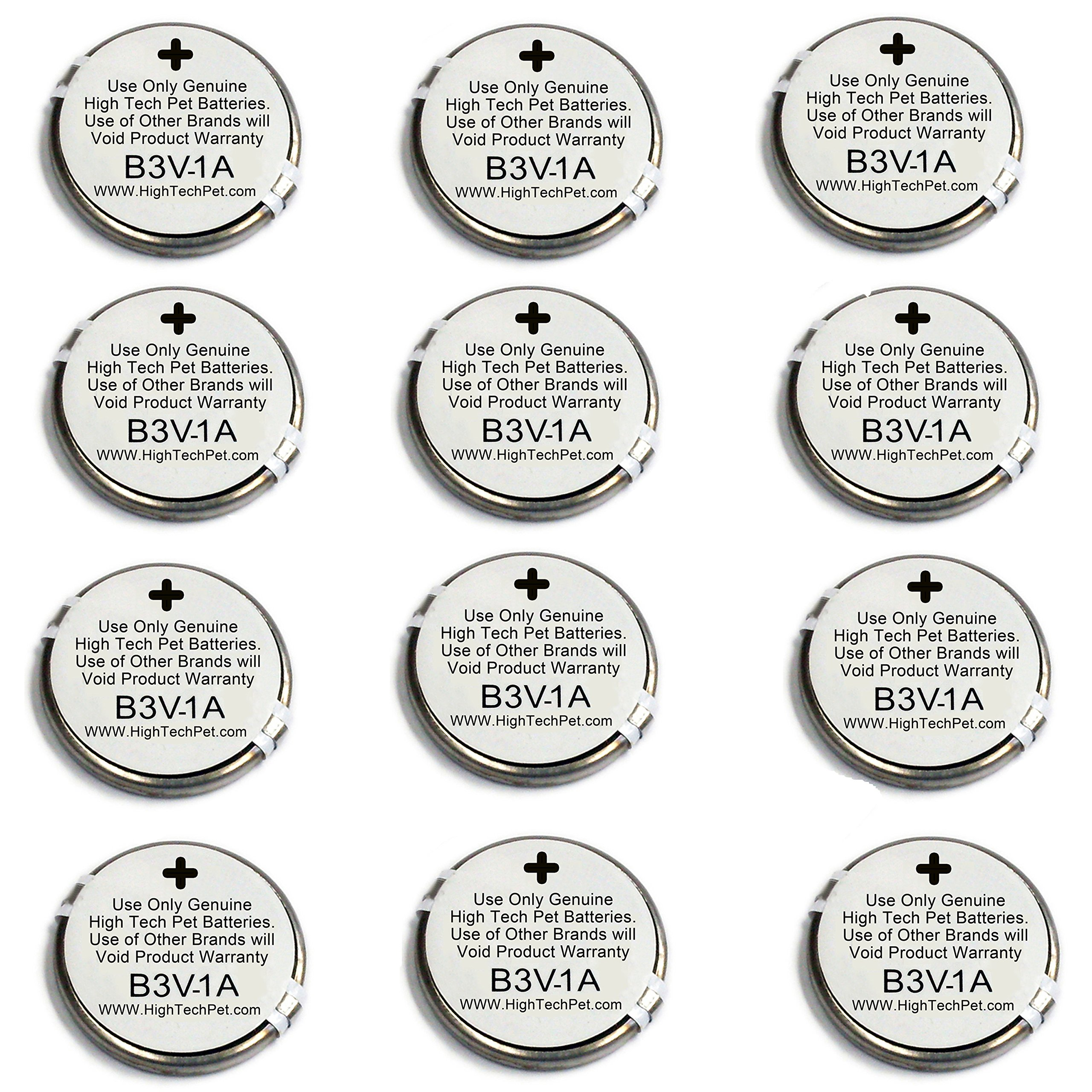 High Tech Pet 12-Pack Electronic Collar Battery for Model MS-4 and MS-5
