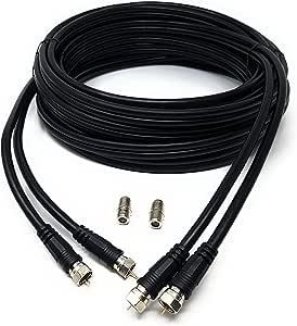 MainCore - Cable coaxial de doble satélite F para enchufe RG6 ...