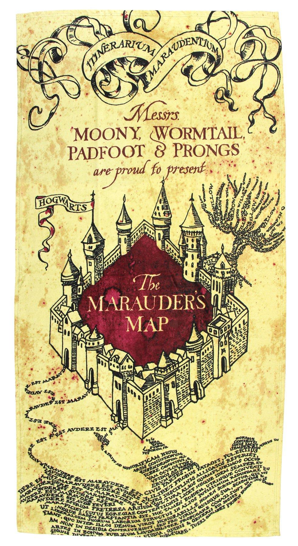 Harry Potter Marauders Map Beach Towel 30'' x 60''