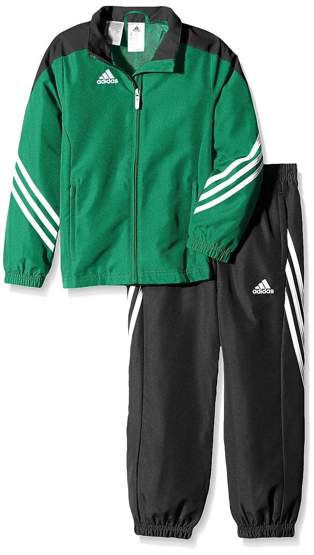 ni/ño 152 Verde//Negro//Blanco adidas Sere14 Pre SU Y Sudadera